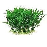 10 pz plastica erba verde artificiale simulazione pianta dell'acquario per pesci serbatoio decorazione ornamento