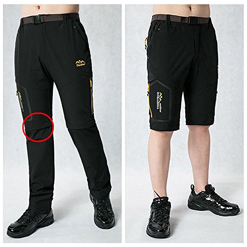 513UEeHDiRL. SS500  - Srizgo Hiking Trousers Mens Walking Trousers With Belt Zip Off Quick Dry Multipockets Trousers Outdoor Trousers For Climbing Camping Leisure