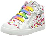 Geox Baby Mädchen B Kilwi Girl A Sneaker, Weiß (White/Multicolor), 27 EU