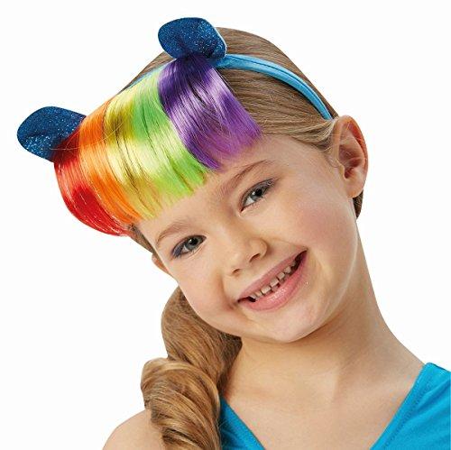 Rubie's My Little Pony Haarreif mit Haaren und Ohren Rainbow Dash Karneval