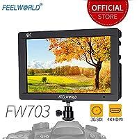 Feelworld FW703 7 Zoll Kamera DSLR Monitor Camera Field Full HD Focus Video Assist 1920x1200 IPS mit 4K HDMI 3G SDI Input Output Histogram