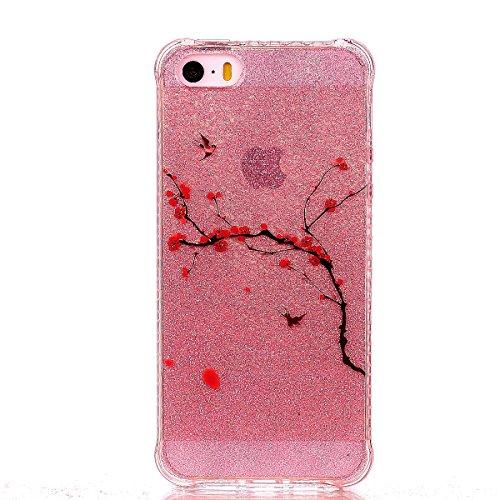 Coque iPhone SE/5/5s, Cozy Hut® [ Anti-Scratch] Ultra Mince Premium TPU silicone Case [Bling Crystal] ** Eclatant et Brillant ** Glitter Crystal Quartz / Bumper-Style / Anti-choc / Adherence exacte /  Iljimae