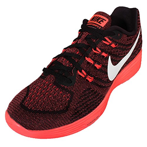 Nike Lunar Tempo 2, Chaussures de Running Compétition Homme, Bleu, Taille Multicolore - Rojo / Blanco / Negro / Naranja (Unvrsty Rd / White-Blk-Brght Crm)