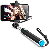 Anker Selfie Stick, Verstellbare Selfie-Stange, ohne Akku, mit Kabel, für iPhone 6s/6/5, Galaxy, Nexus und viele mehr, in Schwarz