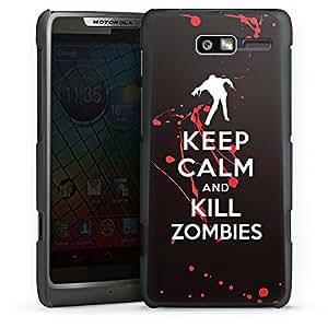 Motorola RAZR i XT890 Hülle Schutz Hard Case Cover Keep Calm Zombies Blut