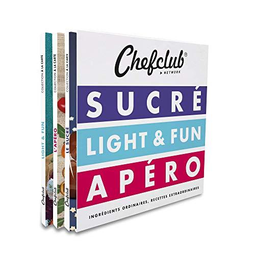 Chefclub Network : 3 volumes : Sucré ; Light & Fun ; Apéro