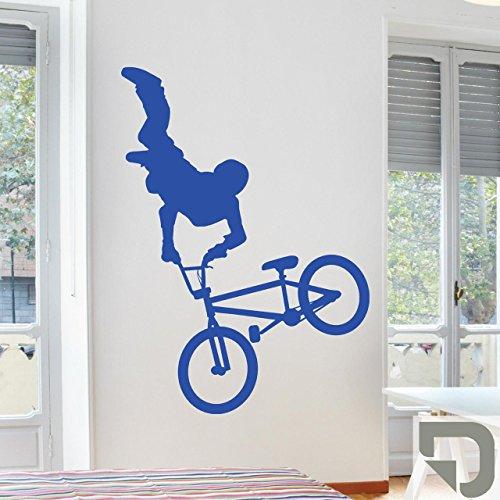 DESIGNSCAPE® Wandtattoo Cooler BMX Fahrer 57 x 80 cm (Breite x Höhe) grau DW810061-S-F6