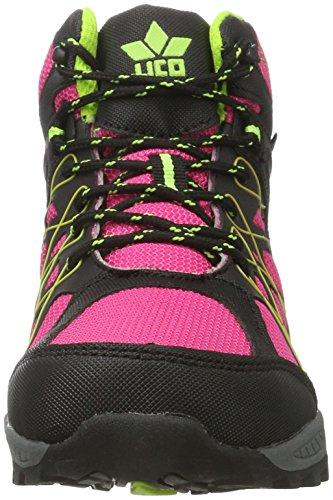 Lico Terrain, Scarpe da Arrampicata Alta Bambina Rosa (Pink/schwarz/lemon)
