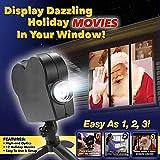 Projecteur de fenêtre de Noël Halloween, projecteur de décoration de projection à 12 films du Festival LED pour une fête en plein air à la maison transforme vos fenêtres en écrans de cinéma