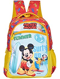 Disney School Bag for Boys   Girls 05+ Years Mickey Mouse with Pluto  Surfing 29 (L) Polyester (Dcp-395-10) bdca17e2f8138