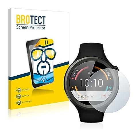2x BROTECT HD-Clear Screen Protector Motorola Moto 360 Sport (45 mm) 1st Gen Protector - Crystal-Clear, Anti-Fingerprint