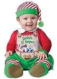 de luxe bébé garçons filles de Père Noël Little Helper Lutin Noël en Personnages Costume déguisement - Vert, Vert, 6-12 Months