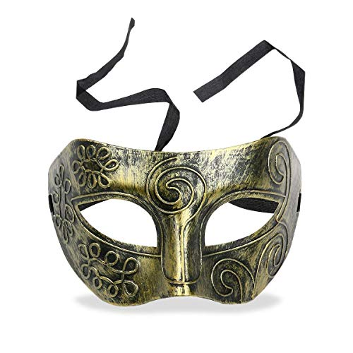 RXBC2011 Herren Maske Karneval Maskerade Griechisch Römische Soldat Party Kostüm