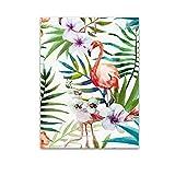 Gemini_mall® Peinture à l'huile moderne et abstrait sur toile motif flamant rose, photo sans cadre, F, 40x50cm