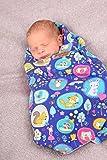 Einschlagdecke fürs Baby mit süßen Tierchen, Einschlagdecke mit Namen