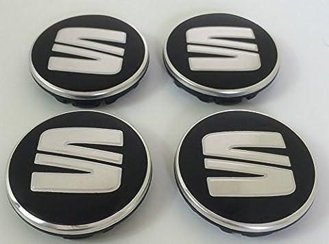 Set Of Four Alloy Wheels Centre Hub Caps 55mm chrome