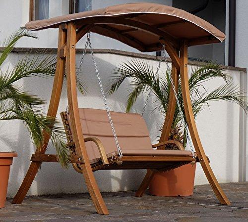 Design Hollywoodschaukel RIO aus Holz Lärche mit Dach von AS-S - 5