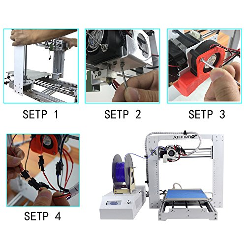 Athorbot 3D Drucker bereit PLA ABS TPU Flexible Prusa I3 Metal DIY set Large Print Size 300*300*300mm 24V Brother -