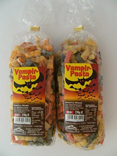 use aus Nudelteig, 2x 250 g, Nudeln, Vampir Pasta, Dekoration, Delikatesse (Halloween Fledermaus-dekorationen Basteln)