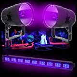 Pack Barre UV LED 9x1W + 2 Projecteurs LAMPE LBL38