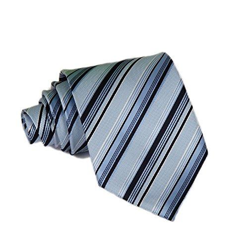 HIDOUYAL Skinny Tie Business Slim Tie Narrow Tie (blaue Streifen) -