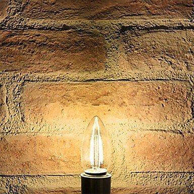 FDH E27 4W 380LM 3000-3500K LED Core Tungsteno luz cálida luz de vela (CA 220-240 V)