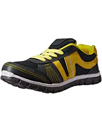 Provogue Men's Grey and Yellow Running Shoes