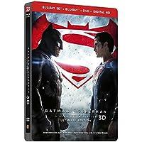 BATMAN V SUPERMAN : L'AUBE DE LA JUSTICE - Version Longue - Edition limitée  Steelbook - Blu-Ray 3D + 2D + DVD - DC COMICS