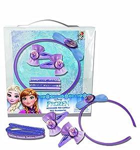 CORIEX d96413Pelo Set consiste en Pelo Gummies, Maduro y Clips en Disney Frozen Desing