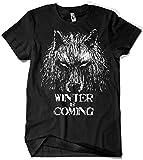 344-Camiseta Winter Is Coming (Fuacka) (Negro, XXL)