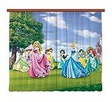 Gardine/Vorhang FCS xl 4322, Kinderzimmer Disney Princess Prinzessin