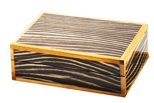 Eccolo Hochglanz Aufbewahrungsbox, Java Zebra, 17,8cm (Hochglanz-aufbewahrungsbox)
