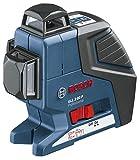 Bosch Professional GLL 3-80 P, 80 m Arbeitsbereich mit Empfänger, 0,2 mm/m Nivelliergenauigkeit, Schutztasche, BT 150, Laserzieltafel, L-BOXX-Einlage