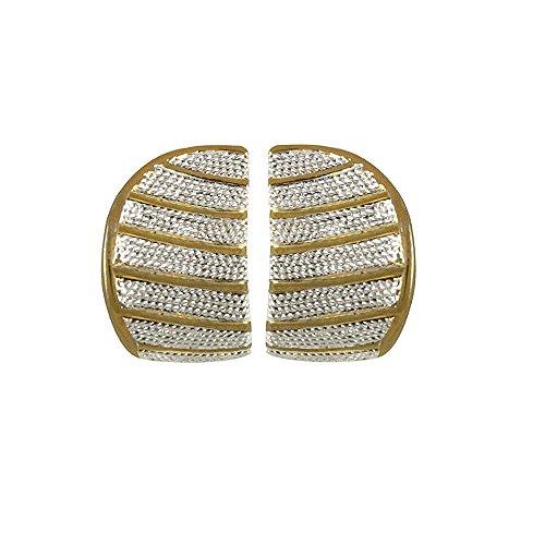 caress-classico-due-tono-clip-on-orecchini-con-confezione-regalo