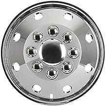 Juego Juego Tapacubos metálicos (4 unidades) cromo 16 pulgadas universal para caravanas,