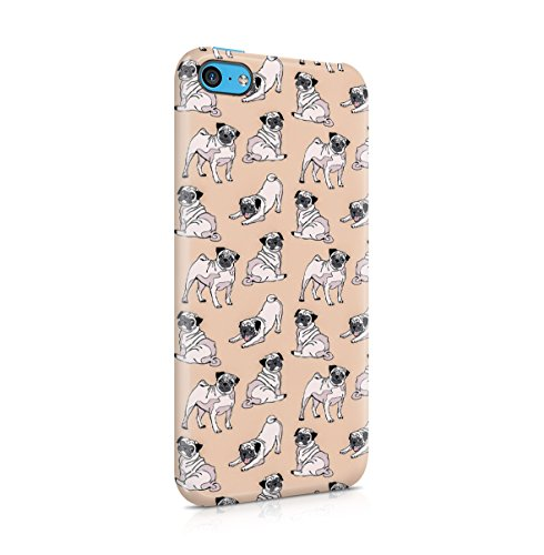 Pug Pattern Apple iPhone 5 , iPhone 5S , iPhone SE Snap-On Hard Plastic Protective Shell Case Cover Custodia Cute Pugs