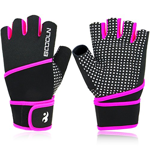 Aiduy-Weight-Lifting-Gloves-Gym-Gloves-With-Wrist-Support-for-Crossfit-Training-Bodybuilding-Fitness-Anti-slip-Half-Finger-Exercise-Gloves-for-Sports-Men-and-Women-Violet-L