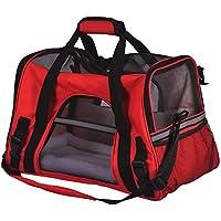 WUBOX Tiertransporttasche - Tragetasche für Hund und Katze - in Grau, Blau, Rot, Tiertasche:Rot