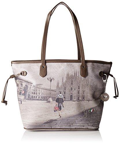 Ynot i-319, Borsa a Spalla Donna, Multicolore (Fashion Shopping), 46x44x17.5 cm (W x H x L)