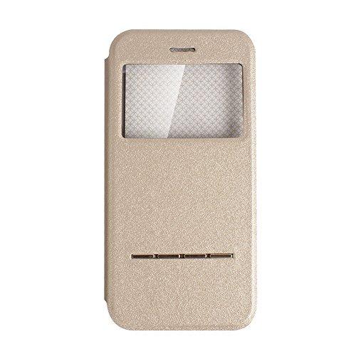 """D9Q Smart Vorne Fenster Ansicht Flip PU Leder Cover Case Stand Hülle Protector für iPhone 6 Plus 5,5"""" !!Rot"""