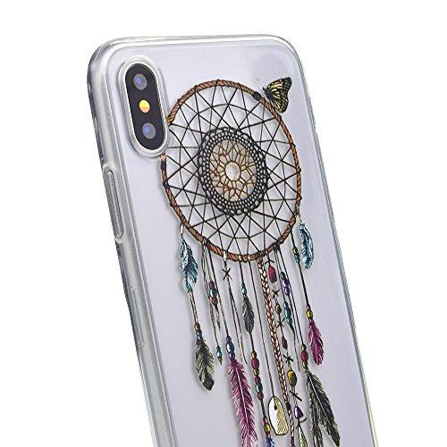 Per iPhone X Cover , YIGA nero Silicone Morbido TPU Case Caso Shell Protezione Copertura Custodia Copertina per Apple iPhone X (5,8 pollici) AK35