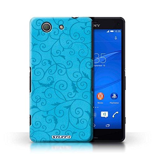 Kobalt® Imprimé Etui / Coque pour Sony Xperia Z3 Compact / Vert conception / Série Motif de la vigne Turquoise