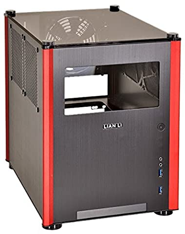 Lian Li pc-q36wrx Computer Case–Box von Computer (Mini-Tower, PC, Aluminium, 1x 120mm, 1x 120mm, 63, 5, 88, 9mm (6,3cm 8,9cm)) schwarz, (Minitower Pc)
