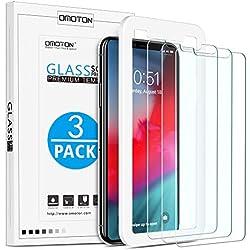 OMOTON Verre Trempé pour iPhone XS Max Protection Ecran avec Kit Installation Offert Film Protecteur[ 6.5 Pouces 9H Dureté, sans Bulles, Anti Rayures, 2.5D Arrondi, 3 Pack]