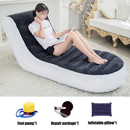 Zichen poltrona gonfiabile deluxe per 1 persona con poggiapiedi ottomano - divano grande per bambini e adulti, upgrade-a (color : upgrade, size : a)