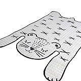 VClife® Teppich Kinderteppich Polyester Schlafzimmer Wohnzimmer Studiozimmer Dekoartikel Sofa Bett Teetisch Kinderzimmer Spielteppich Baby Krabbeldecke Picnic Tiger 130 x 185cm