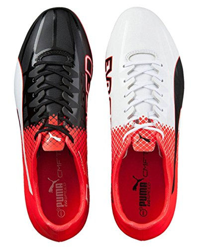 Puma Evospeed Sl-s Ii Ag, Chaussures de Football Compétition Homme black-white-red blast