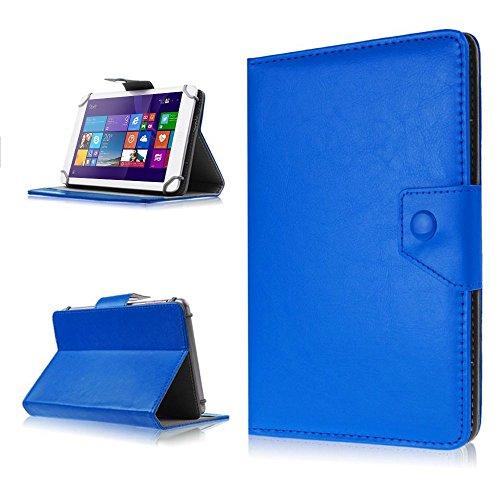 NAUC Tasche Hülle für ODYS Ieos Quad 10 Pro Schutzhülle Tablet Cover Case Bag Etui, Modellauswahl:Blau mit Magnetverschluss