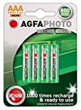 4 x AGFA AAA NiMh Cordless Telephone Rechargeable Batteries-Binatone, BT (inc Diverse, Studio, Graphite, etc-NOT SYNERGY), Doro, iDect, MagicBox, Panasonic, Philips, Siemens