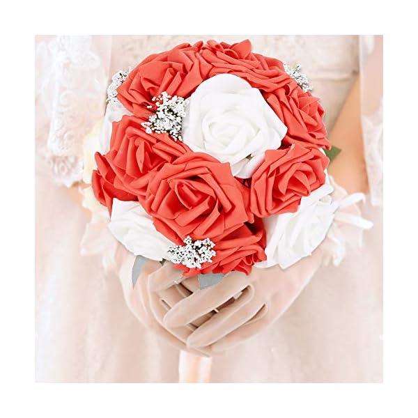 TopINCN – Ramo de flores artificiales para decoración de boda, jardín, fiesta, accesorios